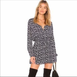 NWT Rails Willa Stellar Navy Star Print Dress L